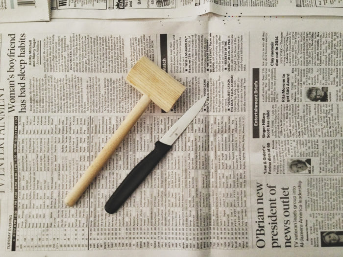 2. A knife for picking meat, and a mallet for cracking claws (although most Marylanders don't need no stinkin' mallet).