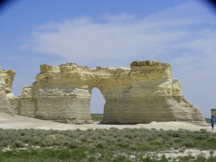 12. Finally, since geology rocks, we best make a trip to see marvelous Monument Rocks...