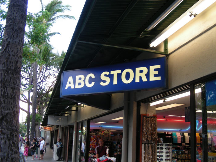 3. ABC Stores are found  on nearly every street corner in Waikiki.