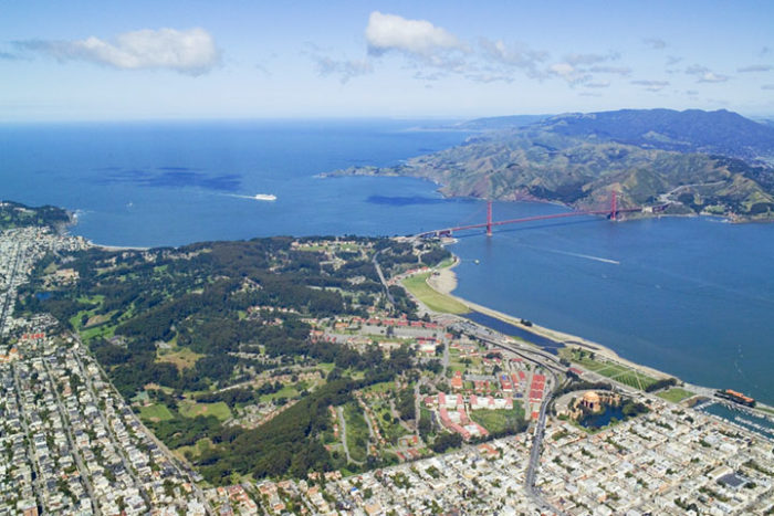 3. Robert Campbell captures the Presidio on a bright, sunny day.