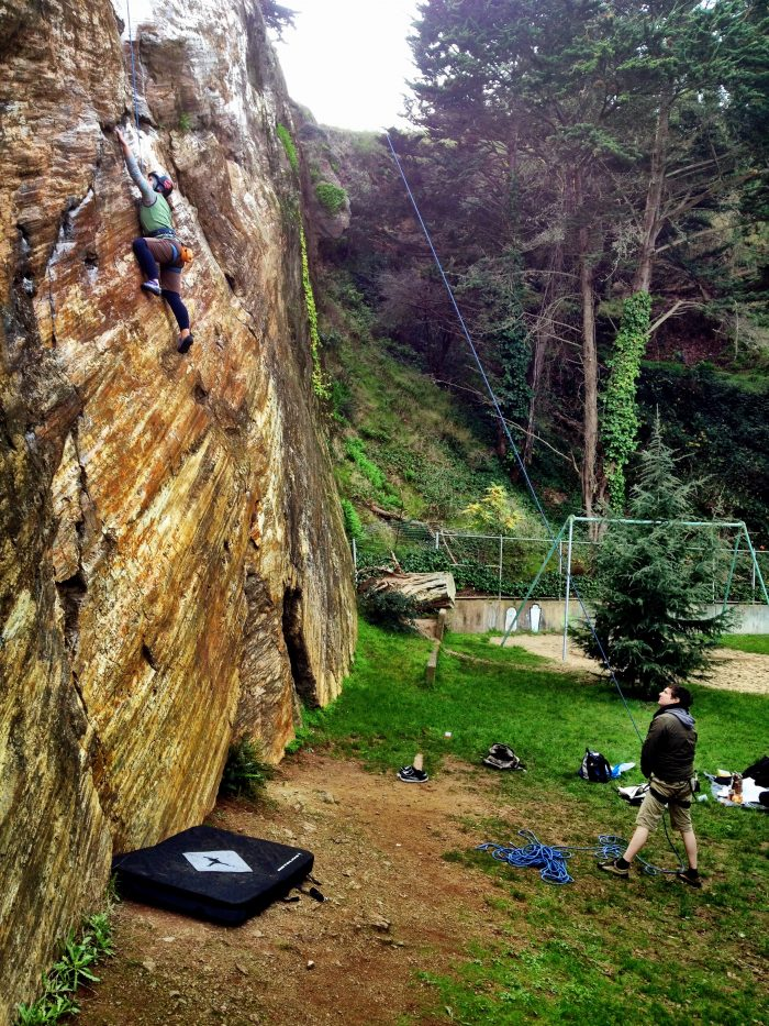 6. Go rock climbing at the Beaver Street Wall on the edge of Corona Heights Park. Or climb indoors at Mission Cliffs, Planet Granite, or Dogpatch Boulders.