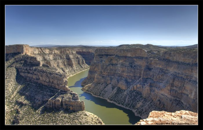 5. And the top of Bighorn Canyon, looking down.