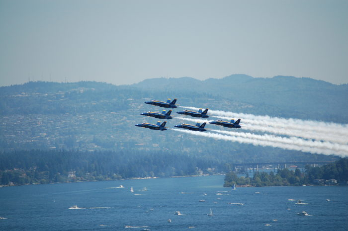 2. The Blue Angels will be soaring over Seattle Seafair from August 5-7 this year.