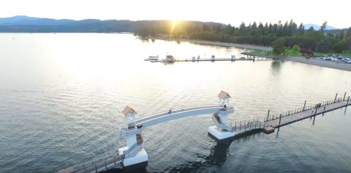 6. Coeur d'Alene's floating boardwalk at the CDA Resort is the longest in the world.