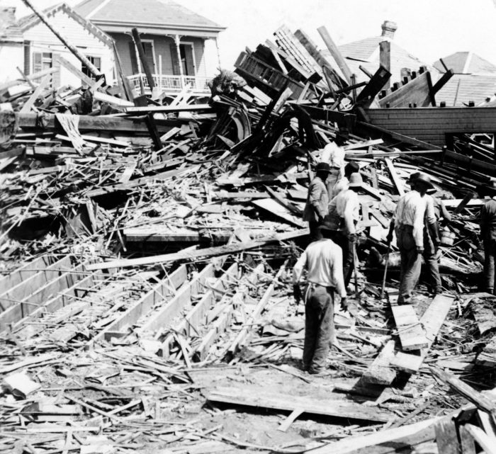 Body_in_the_ruins,_Galveston_hurricane,_1900