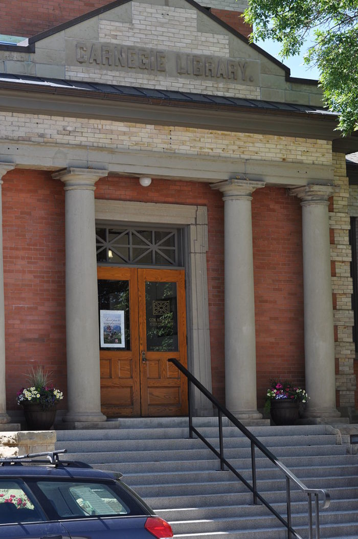 2. In 1903 the Bozeman Carnegie Library was (intentionally!) built across the street from the red-light district and opium dens.
