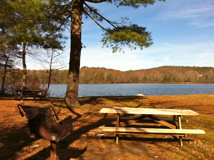 5. Burr Pond is the perfect setting for a family picnic.