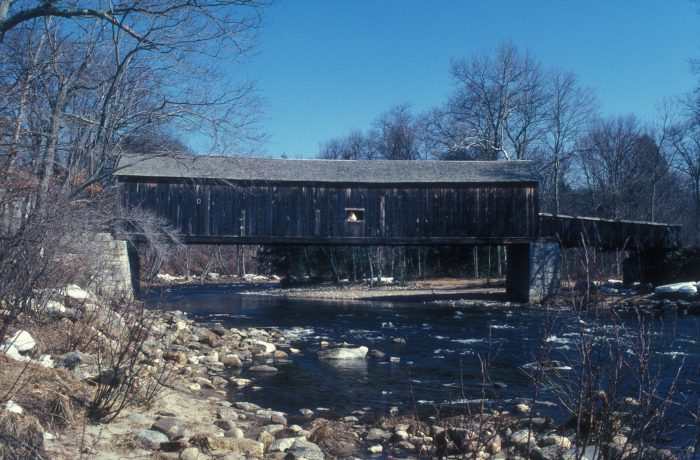 10. Explore the Comstock Covered Bridge in East Hampton as you travel through the Salmon River State Forest.