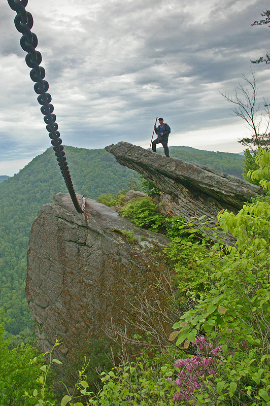 Chained Rock in Pineville.