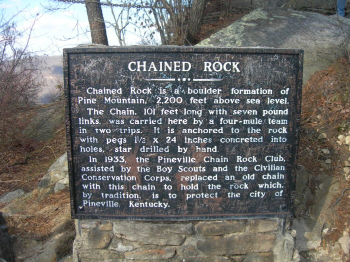 7. Chained Rock in Pineville