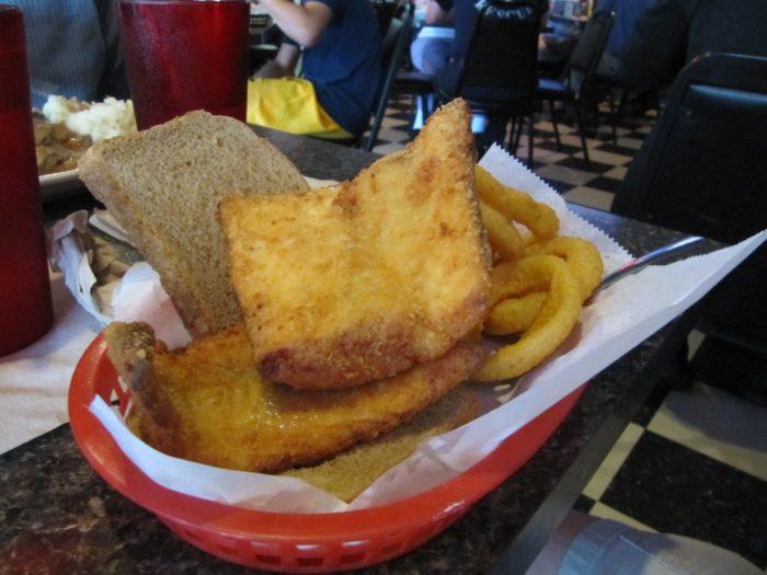 Check's Café Cod sandwich and fries