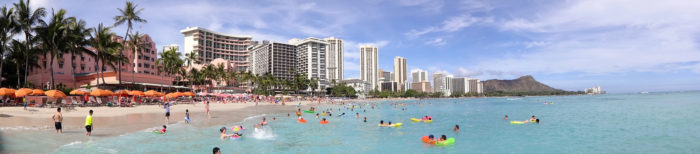 1. As Hawaii's most famous beach, this is surprisingly considered a calm, uncrowded day.