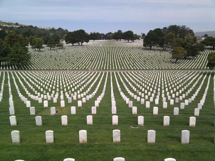 6. Golden Gate National Cemetery in San Bruno