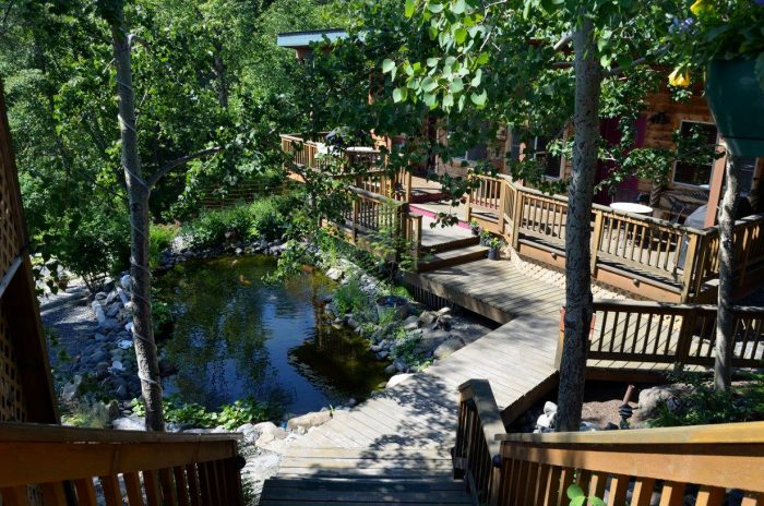 7. Relaxation and wine tasting at Bear Creek Winery and Lodging.