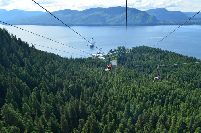 8. Epic zip-lining at Icy Strait Point in Hoonah.