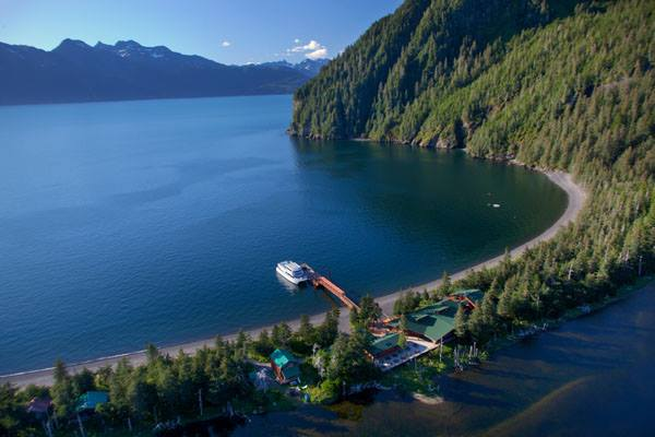 13. National park day cruise and overnight at Kenai Fjords Wilderness Lodge on Fox Island.