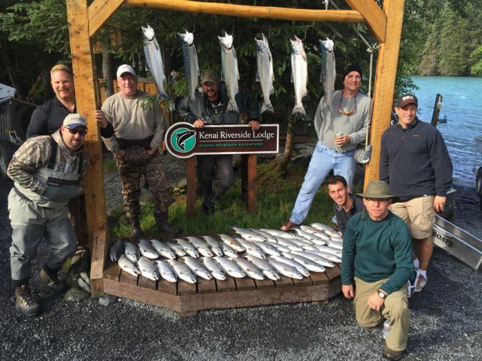 9. Fishing frenzy at Kenai Riverside Fishing Lodge in Cooper Landing.