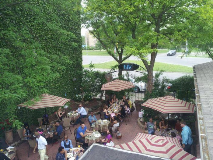 5. Find a shady outdoor patio to spend the afternoon.