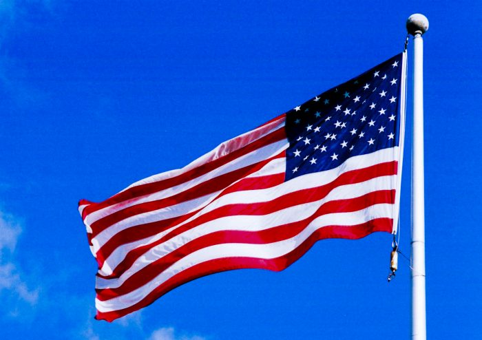 5. Paint polka dots on the American flag.