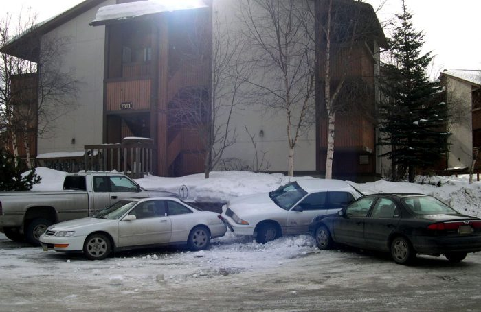 14. When snow covers parking spot lines, just throw logic out the window and park like it's your first rodeo. Brilliance!