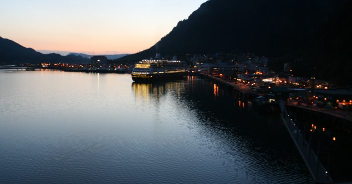 4. What is the elevation from here (as the cruise ship sits docked in Juneau)?