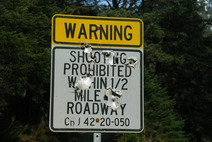 23. Seems like a perfectly safe neighborhood to me. Aside from the bullet holes on every single road sign and stuff.