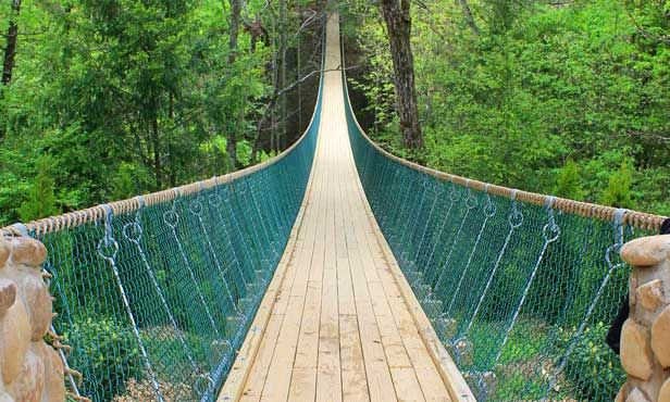 Swinging bridge designs