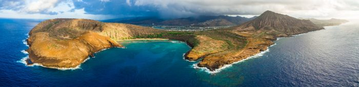 Located on Oahu's southeastern shore, this marine life conservation district was formed from a tuff ring, and is perhaps the island's most popular snorkeling destinations for tourists and locals alike.