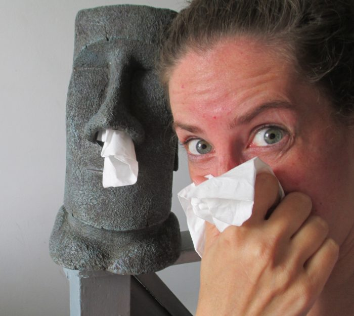 8. Walk around with the common cold.