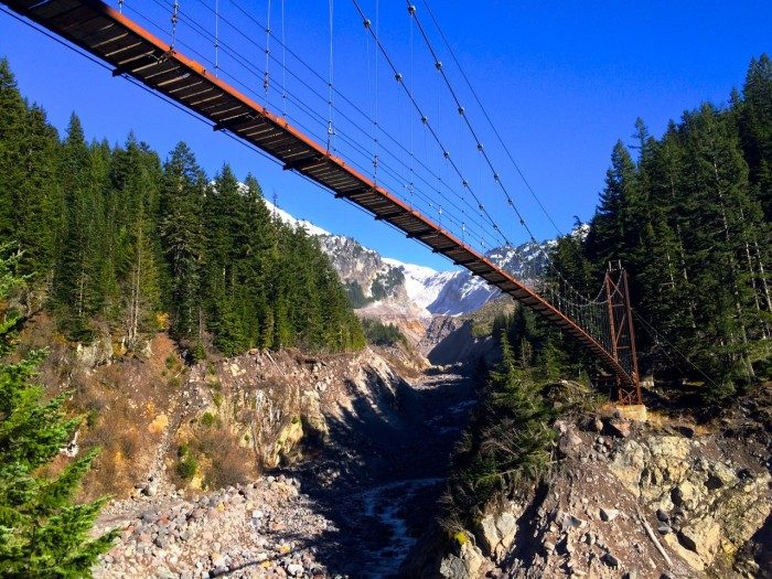 8. Washington: Tahoma Creek Suspension Bridge