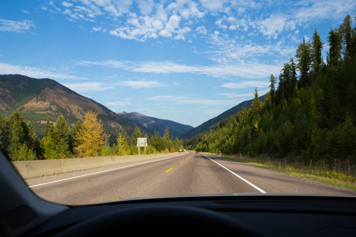 5. Drive from Troy toward Thompson Falls on Highway 56.
