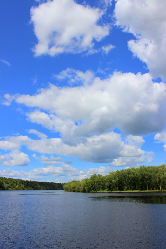 On a warm day, there's nothing like seeing the beautiful blue sky reflect off of the river!