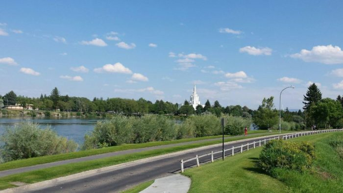 4. Stroll down the Snake River Greenbelt in Idaho Falls.