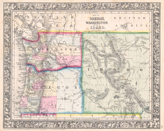 4. The original Idaho territory was a giant rectangle that encompassed a large portion of Montana and Wyoming.