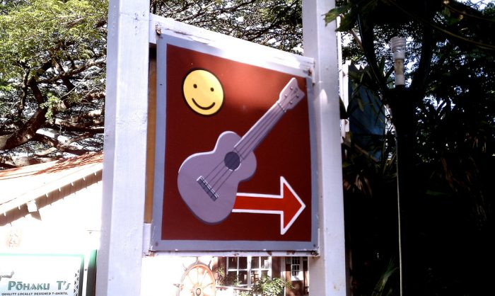 6. If you're looking for happy ukuleles, turn right.