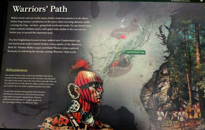 4. It is also home to the Warrior's Path.