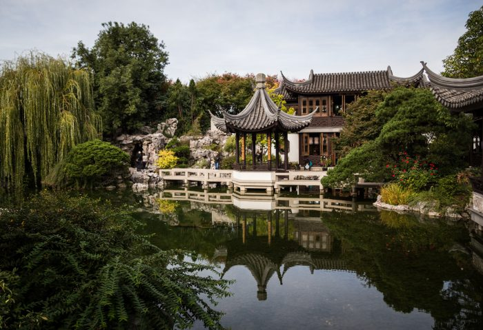 Lan Su Chinese Gardens was built by skilled artisans from Suzhou, a city in the Jiangsu province in China, and is one the most authentic Chinese gardens in the United States.