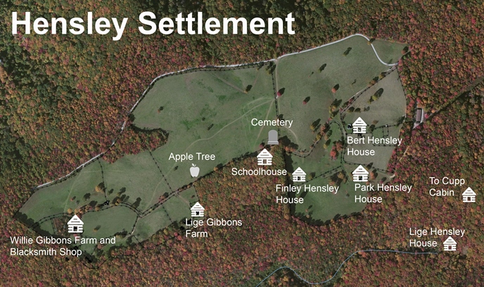 8. The historic Hensley Settlement.