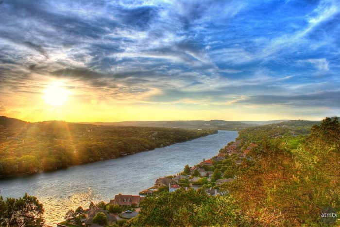 8. Watch the sun set from the top of Mount Bonnell.