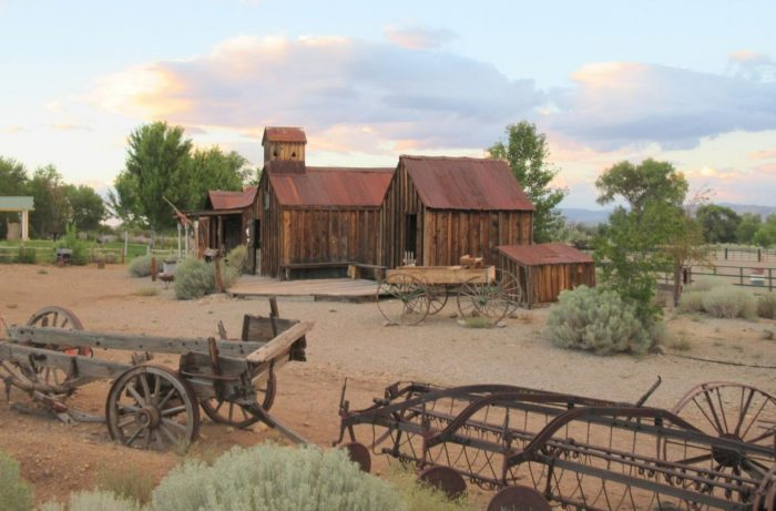 2. This collection of old barns has been preserved and is located at Bartley Ranch Regional Park, in Reno.