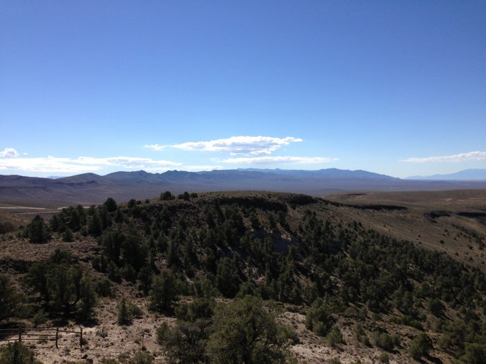 10. This breathtaking view is from the lower southern overlook in Hickison Petroglyph Recreation Area.
