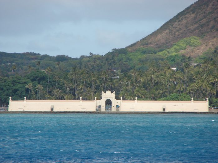 Designed by architect Lewis Parsons Hobart, known for his absolutely grand designs, the Waikiki Natatorium is one of only a few saltwater natatoriums of its kind left in the world.