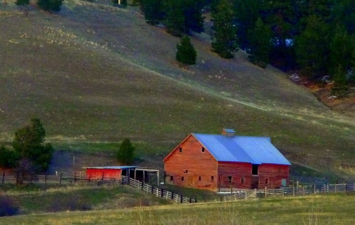 11. This peaceful farm is actually located within Missoula's city limits.