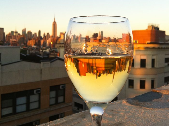 6. There's nothing better than following up a hard days work with a glass of New York wine.