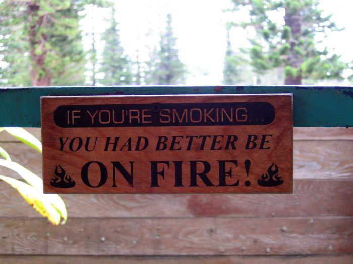 14. No smoking allowed.