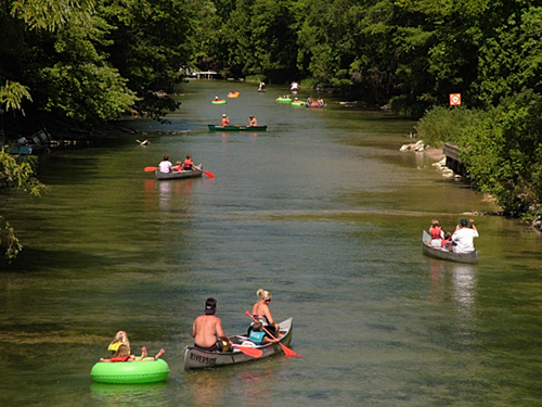 There's the slow rolling, shallow waters that make up the Platte River.
