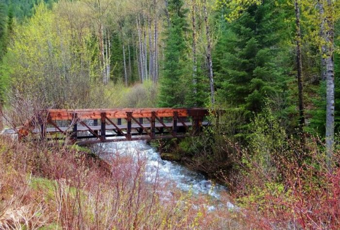 A number of beautifully restored bridges cross the water...