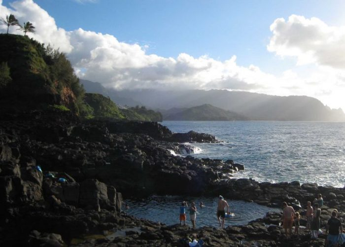 Though dangerous high surf in the winter months is common, low surf in the summer months makes this pool a popular spot for swimming. But that's not to say you should risk it – more than 25 people have drowned after being swept off the rocks by rouge waves.