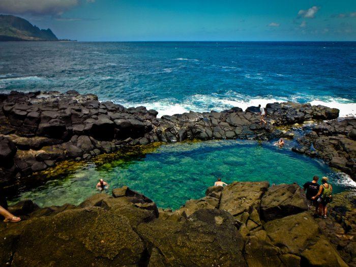 Tall Hole In Rock Big Island