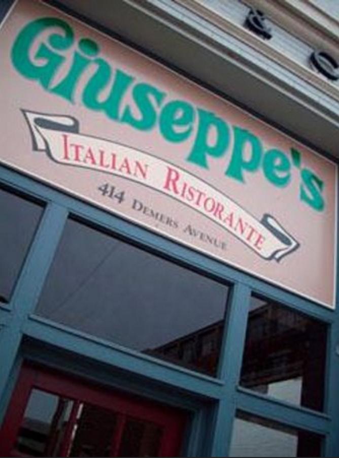 3. Italian: Giuseppe's Italian Ristorante - Grand Forks